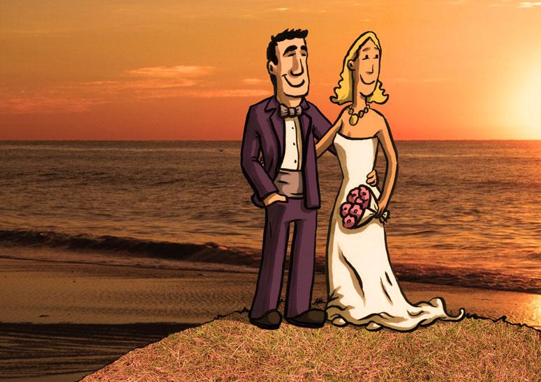 Comic_Hochzeitspaar