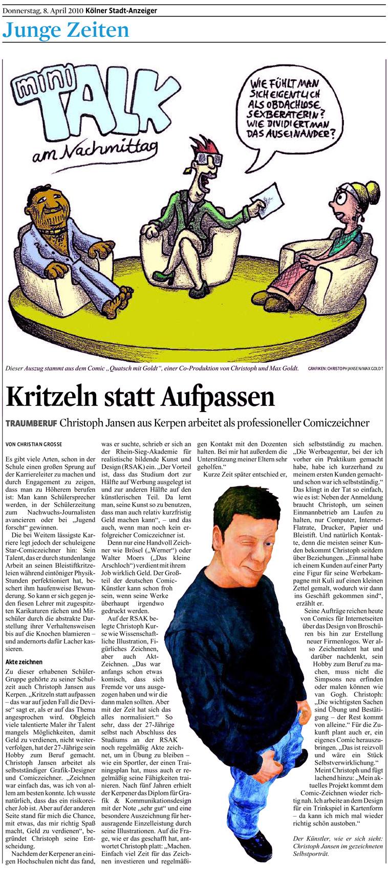 Kölner Stadt-Anzeiger 8. April